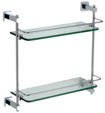 10322 Double glass shelf