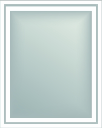 BLM-OB-3 Back Lit Mirror with Outside Border