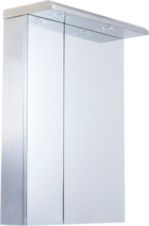 CB-A5065L 304G Stainless steel bathroom mirror cabinet  with 2 doors