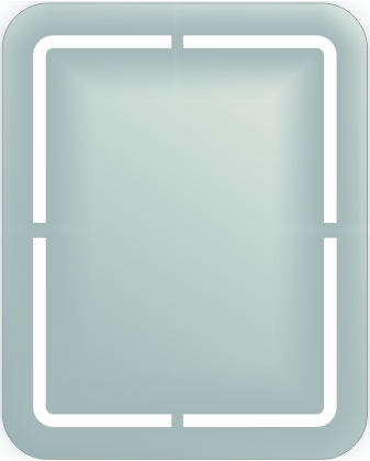 BLM-IB-RD1 Back Lit Mirror Rounded corners  with Inside Border