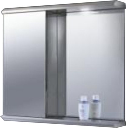 CB-B8073L 304G Stainless steel mirror cabinet 2 Shelves