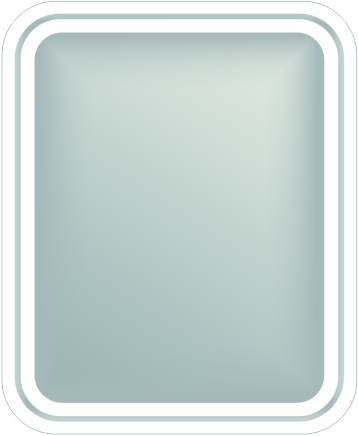 BLM-OB-RD3 Back Lit Mirror with Outside Border