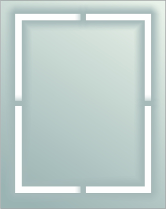 BLM-IB-1 Back Lit Mirror with Inside Border